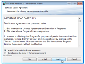 License Agreement Dialogue Box
